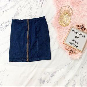 Lauren Ralph Lauren Plus Size Jean Skirt 16W